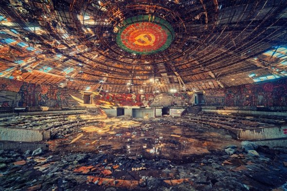 The abandoned headquarters of the Bulgarian Communist Party