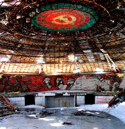 Broken down Bulgarian Communist Party HQ