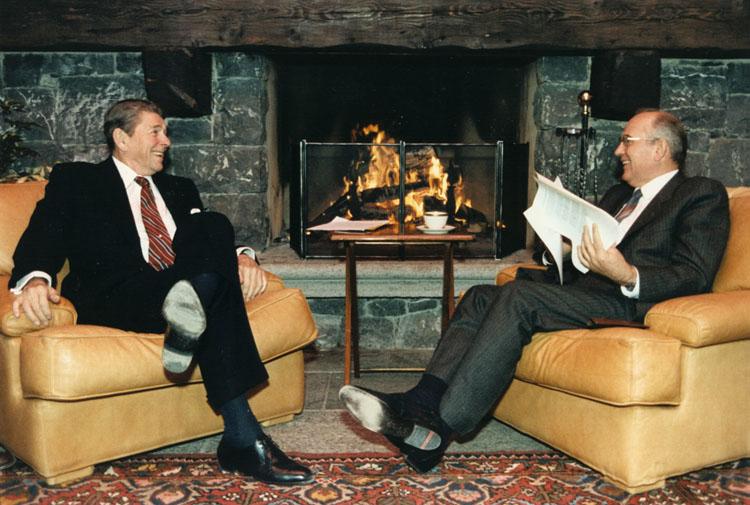 Presidents Reagan and Gorbachev
