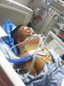 Alexian Lien in the hospital