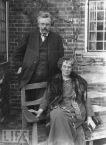 Chesterton and his wife Francis.