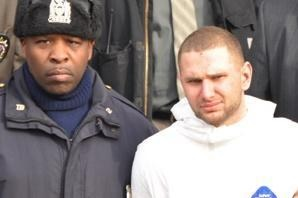 Officer Terrance Howell and spree killer Maksim Gelman. Credit: New York Post.