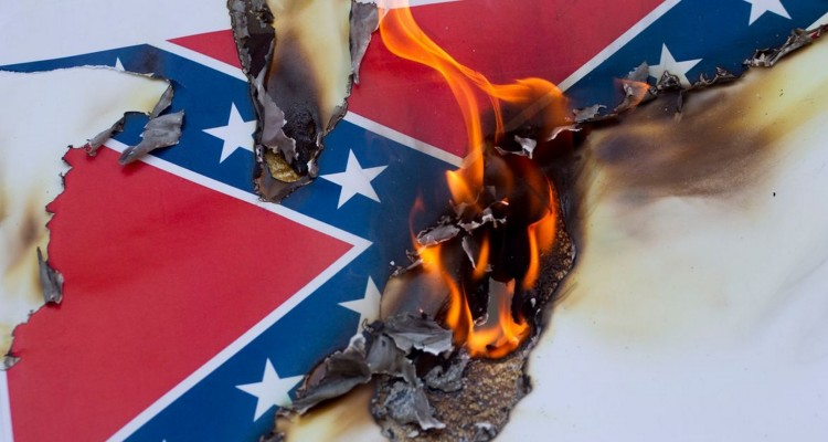 Image result for confederate flag destroyed