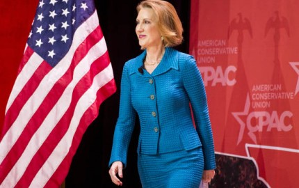 Carly Fiorina, former CEO of Hewlett-Packard, speaks at CPAC in National Harbor, Md., on Feb. 26, 2015.