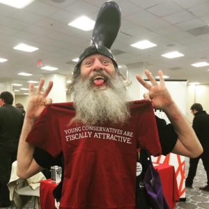 Vermin Supreme makes a splash at the 2016 International Students For Liberty Conference . Photo Credit: Zuri Davis / Rare Politics