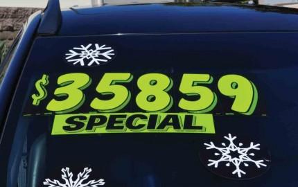 car price sticket