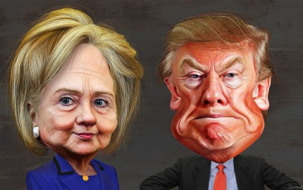 Hillary_Clinton_vs-1._Donald_Trump_-_Caricatures