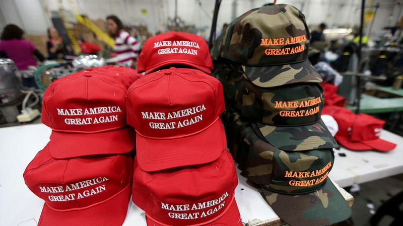 Trump S Make America Great Again Hats Are Made With