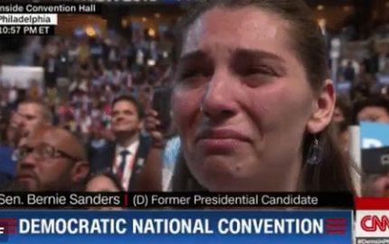 bernie tears