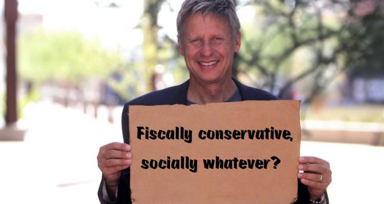 Gary Johnson fiscally conservative