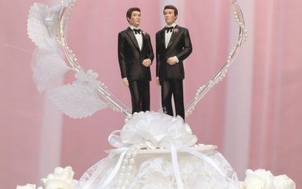 Gay wedding cake topper