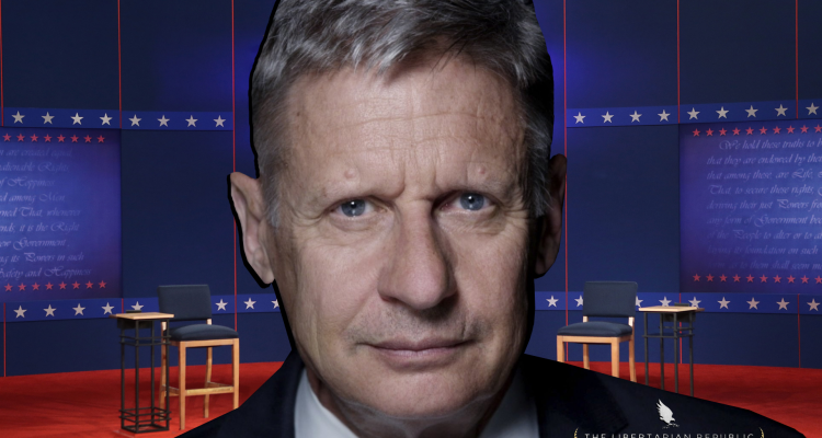 gary johnson debates