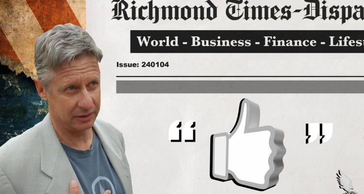 Gary Johnson Virginia editorial
