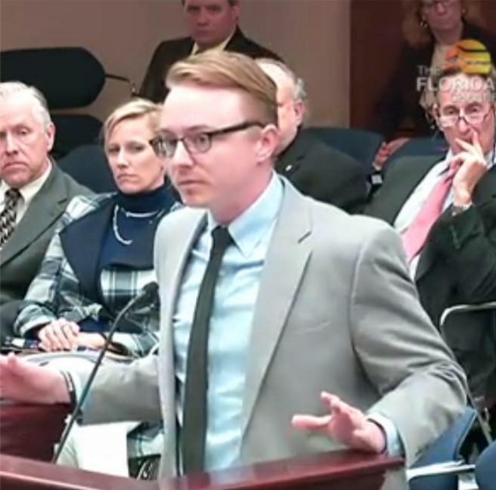 Matt Wright speaking at Florida City Council