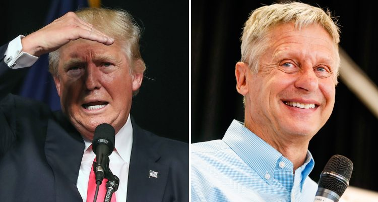Gary Johnson, Trump