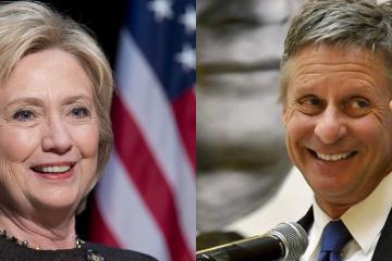 Hillary Clinton Gary Johnson