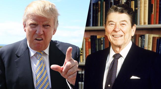 Trump Reagan