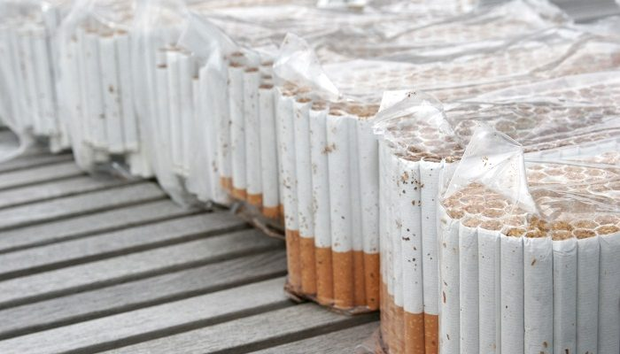 In parts of Canada nearly half of all cigarettes smoked are illegal, often nsold at less than $6 for 200.