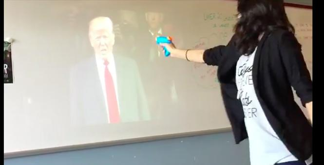 High school teacher play acts assassination of Trump in class