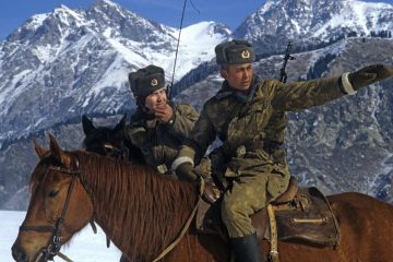 Soviet Border Guards on horseback