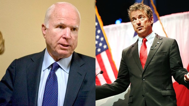 John McCain Says Rand Paul Is 'Now Working For Vladimir Putin'