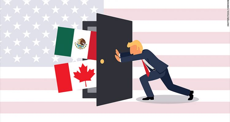 Trump backs off NAFTA withdrawal