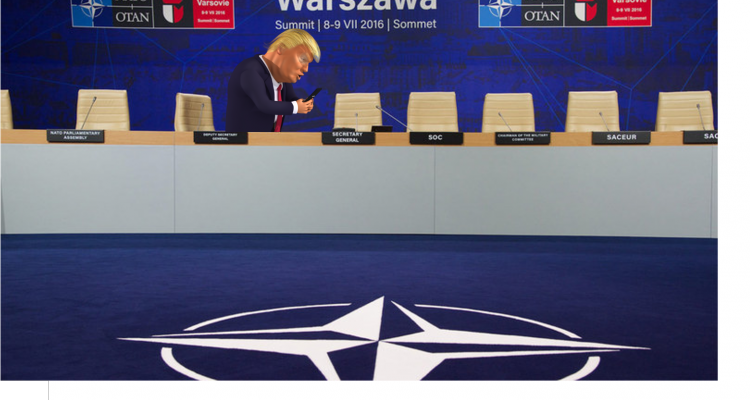 Trump says NATO 'no longer obsolete'