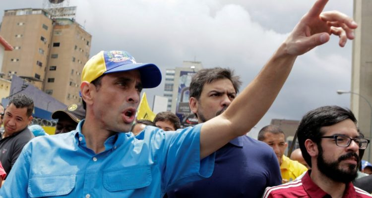Venezuelans march after opposition leader banned from office