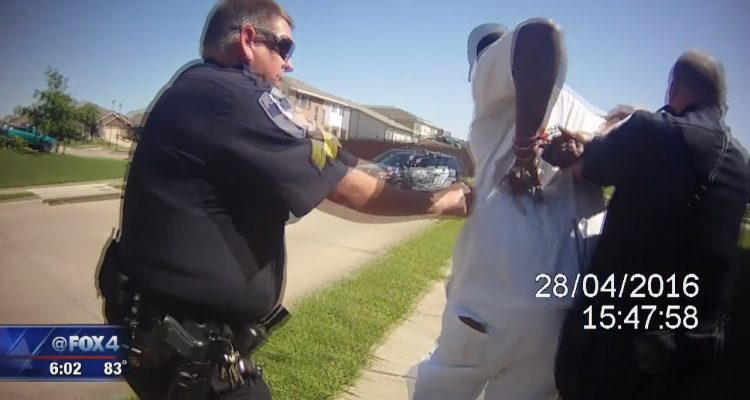 Video shows Texas officer using stun gun on handcuffed man