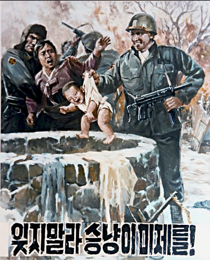 North Korean propaganda depicts US soldiers murdering babies