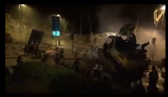 *VIDEO* Turkish Protesters Hijack a Bulldozer to Breakthrough the Police Lines