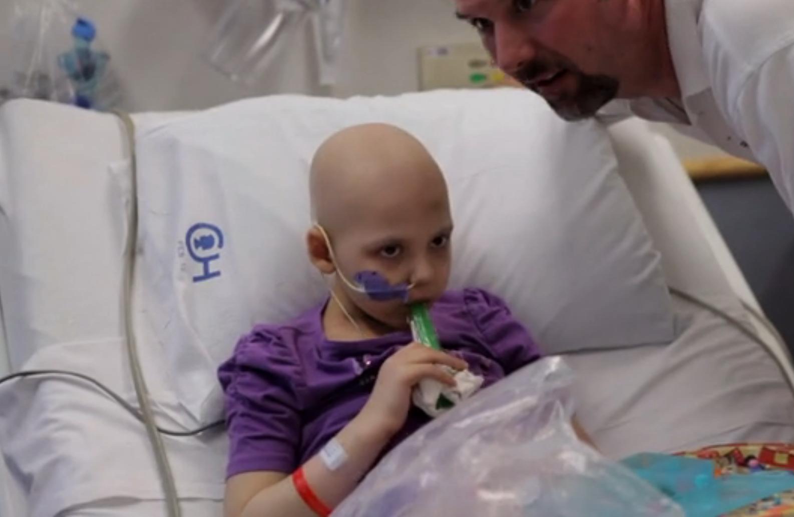 *VIDEO* Doctors inject cells treated with HIV into dying girl… and she smiles.