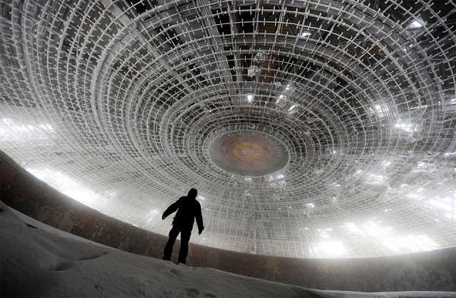 The ceiling of the Bulgarian Communist HQ