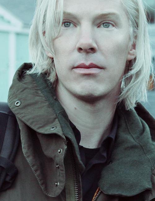 "Benedict Cumberbatch as ""Julian Assange"""