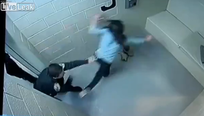 Police officer shatters woman's face in jail cell violence! (VIDEO)