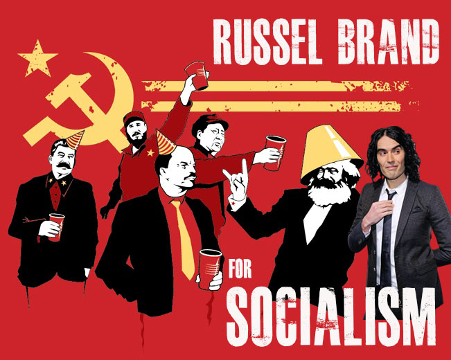 "Russell Brand Calls For ""Massive Redistribution of Wealth"", ""Socialist Egalitarianism"" (VIDEO)"