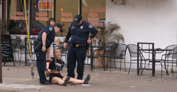 Woman Violently Arrested After Jaywalking