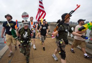 Photo from the Armed Toy Gun March on D.C