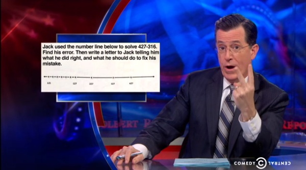 Colbert Crushes Common Core's Stupid Math Problems! (VIDEO)