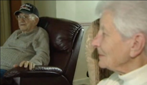 Knife-wielding robber no match for armed WW2 vet and wife