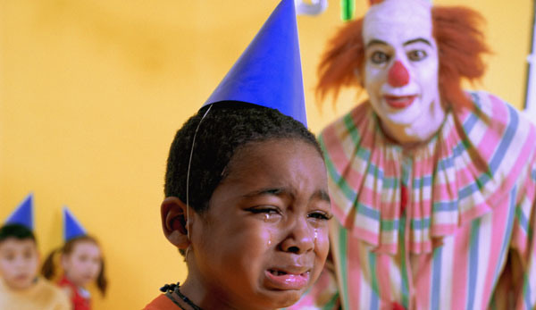 Clown Scaring Kid At Birthday Party Abc Kids Painting