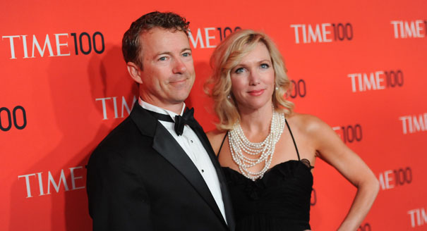 """Sen. Rand Paul, R-Ky and wife Kelley Ashby attend the TIME 100 Gala celebrating the """"100 Most Influential People in the World"""" at Jazz at Lincoln Center on Tuesday April 23, 2013 in New York. (Photo by Evan Agostini/Invision/AP)"""