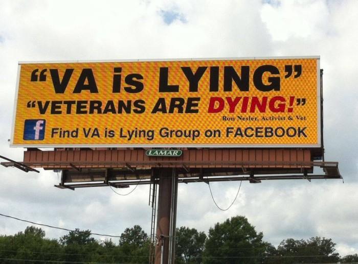 New 'VA Is Lying' Billboard Opens Right Across From Phoenix VA Hospital