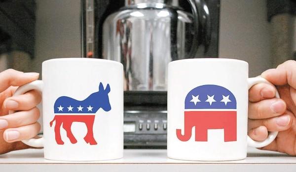 politics_in_the_workplace_coffee_mugs_donkey_elephant_republican_democrat-600x350