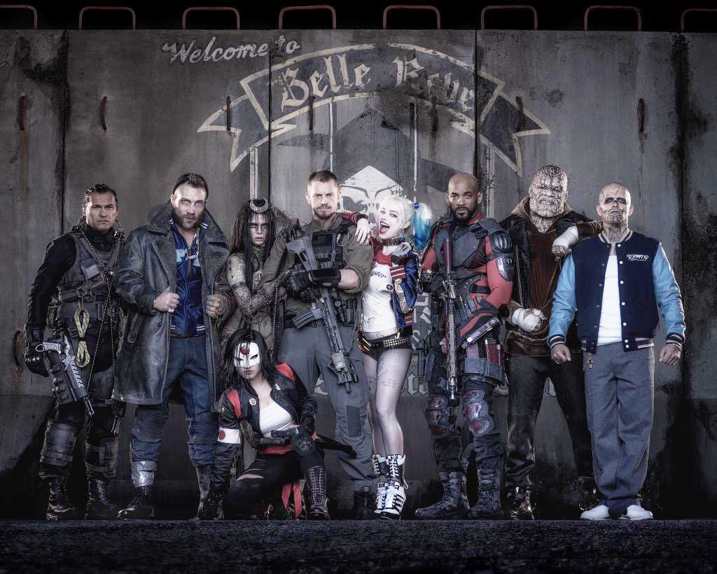 Suicide Squad main cast photo by Warner Brothers