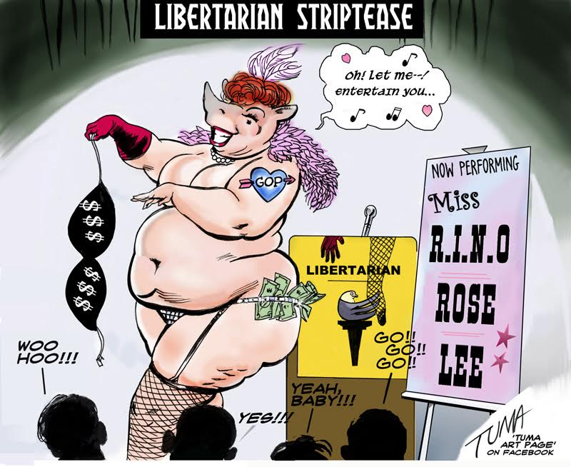 libertarian strip tease