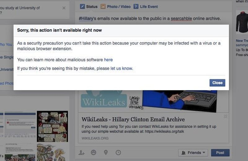 Did Facebook's Censorship of DNC Leak Defame Wikileaks?