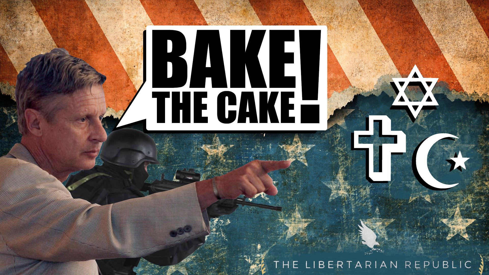 Gary Johnson bake the cake