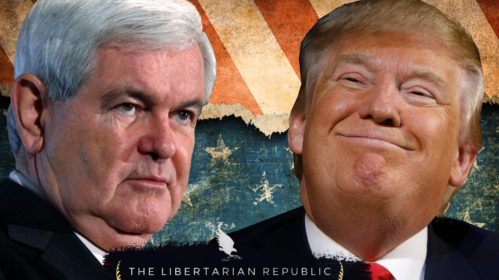 "Newt Gingrich Retreats: ""Trump is Unacceptable"""