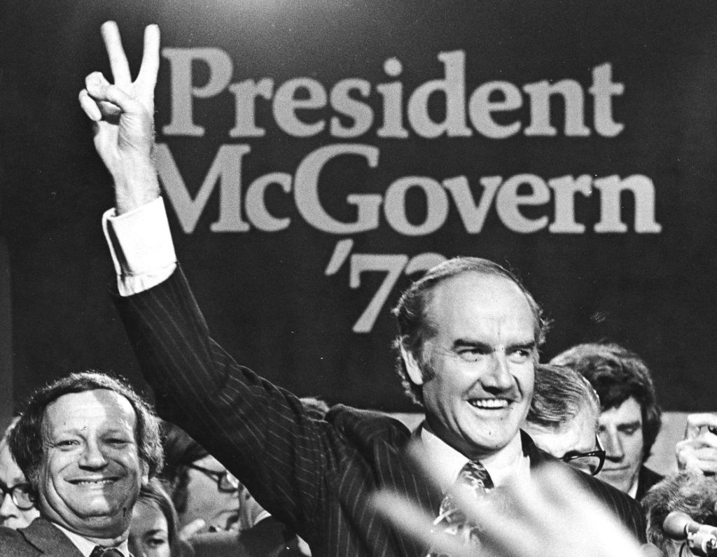a discussion on two presidential candidates richard nixon and george mcgovern George mcgovern united states but the margin was one-third of kennedy's loss to vice president richard m nixon in the the other two leading candidates for.